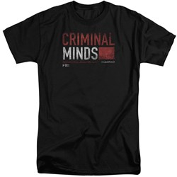 Criminal Minds - Mens Title Card Tall T-Shirt