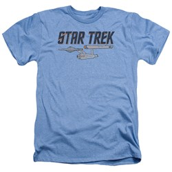 Star Trek - Mens Entreprise Logo Heather T-Shirt