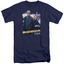 CSI - Mens Do Not Cross Tall T-Shirt