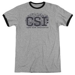 CSI - Mens Distressed Logo Ringer T-Shirt