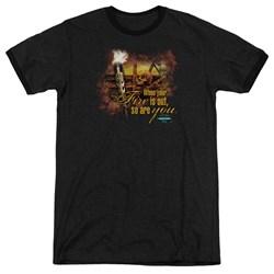 Survivor - Mens Fires Out Ringer T-Shirt