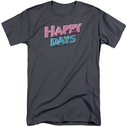 Happy Days - Mens Happy Days Logo Tall T-Shirt