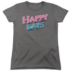 Happy Days - Womens Happy Days Logo T-Shirt