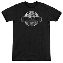 CSI - Mens Rendered Logo Ringer T-Shirt