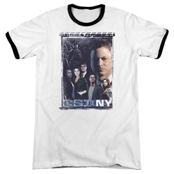 Csi Ny - Mens Watchful Eye Ringer T-Shirt