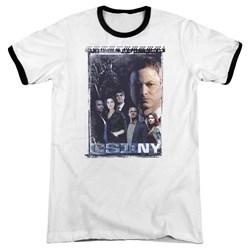 Csi Ny - Mens Watchful Eye Ringer T-Shirt