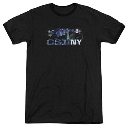 Csi Ny - Mens Never Rests Ringer T-Shirt