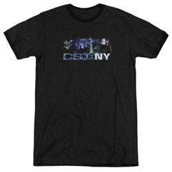 Csi Ny - Mens Never Rests Ringer T-Shirt