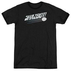 Mork & Mindy - Mens Shazbot Egg Ringer T-Shirt