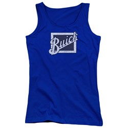 Buick - Juniors Distressed Emblem Tank Top