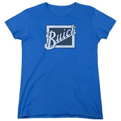 Buick - Womens Distressed Emblem T-Shirt
