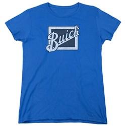 Buick - Womens Distressed Emblem T-Shirt