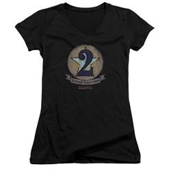 Battlestar Galactica - Juniors Strike Fighters Badge V-Neck T-Shirt