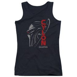 Battlestar Galactica - Juniors Cylon Face Tank Top