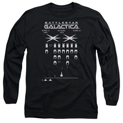 Battlestar Galactica - Mens Galactic Invaders Long Sleeve T-Shirt