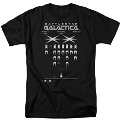 Battlestar Galactica - Mens Galactic Invaders T-Shirt