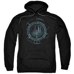 Battlestar Galactica - Mens Faded Emblem Pullover Hoodie