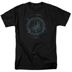 Battlestar Galactica - Mens Faded Emblem T-Shirt