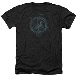 Battlestar Galactica - Mens Faded Emblem Heather T-Shirt