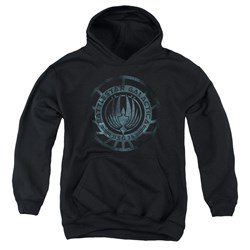 Battlestar Galactica - Youth Faded Emblem Pullover Hoodie
