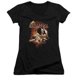 Battlestar Galactica - Juniors Vipers Stretch V-Neck T-Shirt