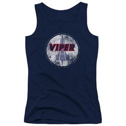 Battlestar Galactica - Juniors War Torn Viper Logo Tank Top