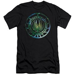 Battlestar Galactica - Mens Galaxy Emblem Slim Fit T-Shirt