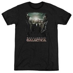 Battlestar Galactica - Mens Crossroads Ringer T-Shirt