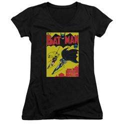 Batman - Juniors Batman First V-Neck T-Shirt