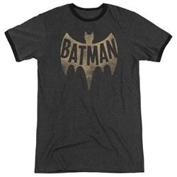 Batman Classic Tv - Mens Vintage Logo Ringer T-Shirt