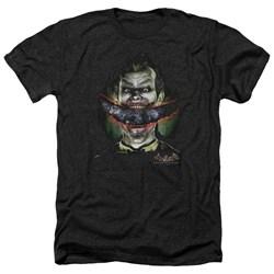 Batman - Mens Crazy Lips Heather T-Shirt