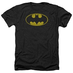 Batman - Mens Washed Bat Logo Heather T-Shirt