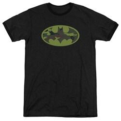 Batman - Mens Camo Logo Ringer T-Shirt