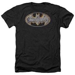Batman - Mens Steel Fire Shield Heather T-Shirt