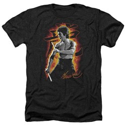 Bruce Lee - Mens Dragon Fire Heather T-Shirt