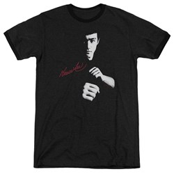 Bruce Lee - Mens The Dragon Awaits Ringer T-Shirt