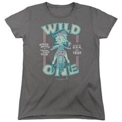 Betty Boop - Womens Wild One T-Shirt