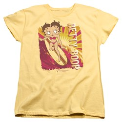 Betty Boop - Womens Sunset Surf T-Shirt