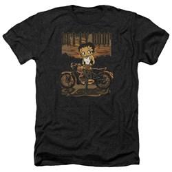 Betty Boop - Mens Rebel Rider Heather T-Shirt