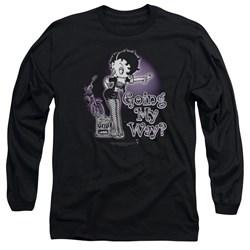 Betty Boop - Mens My Way Long Sleeve T-Shirt
