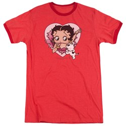 Betty Boop - Mens I Love Betty Ringer T-Shirt