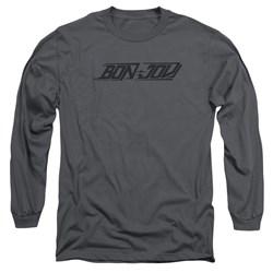 Bon Jovi - Mens New Logo Long Sleeve T-Shirt