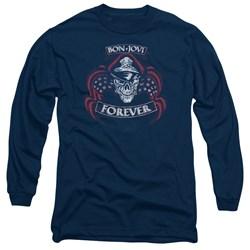 Bon Jovi - Mens Forever Skull Long Sleeve T-Shirt