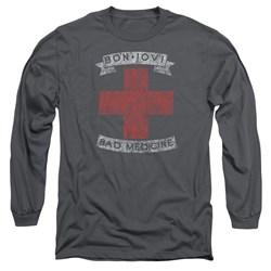 Bon Jovi - Mens Bad Medicine Long Sleeve T-Shirt