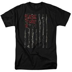 Seether - Mens Bone Flag T-Shirt