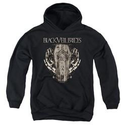 Black Veil Brides - Youth Casket Roses Pullover Hoodie