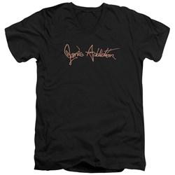 Janes Addiction - Mens Script Logo V-Neck T-Shirt