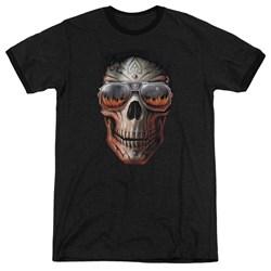 Anne Stokes - Mens Hellfire Ringer T-Shirt