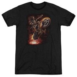 Anne Stokes - Mens Hellrider Ringer T-Shirt
