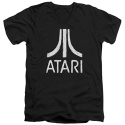 Atari - Mens Rough Logo V-Neck T-Shirt